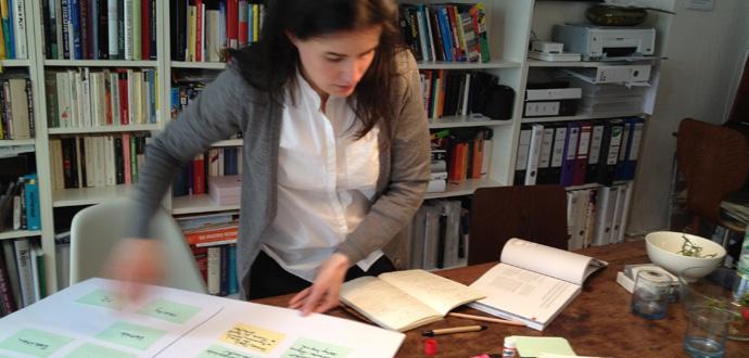 Esther Eisenhardt bei der Arbeit