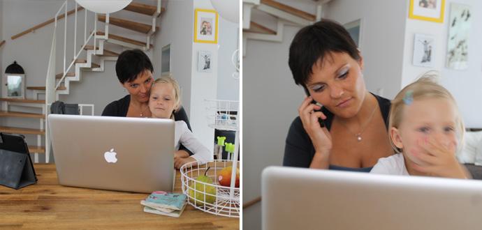 Angela Schindler im Home Office