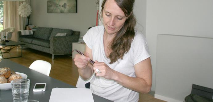 Katina Sostmann bei der Arbeit