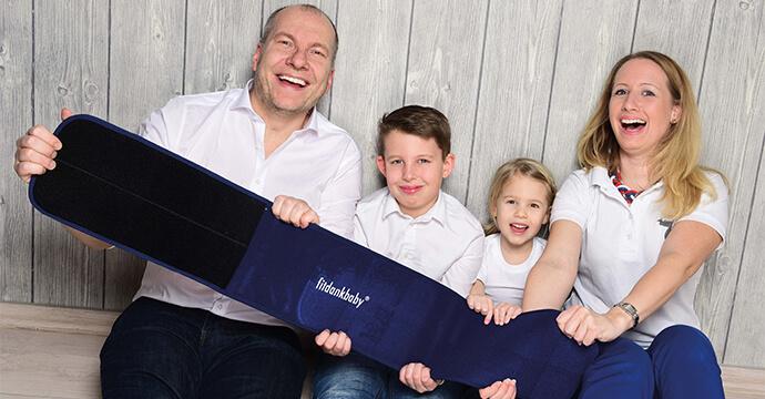 Mompreneur Rebecca Köhler mit ihrer Familie