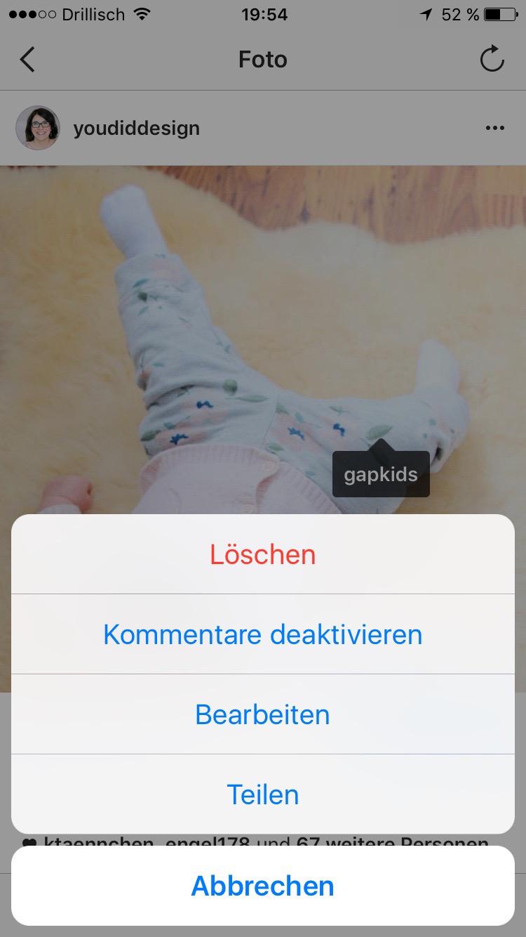 Tiippfehler auf Instagram korrigieren