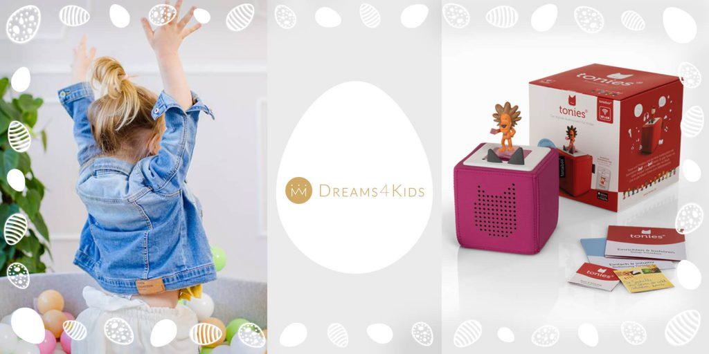 Osterüberraschung von Dreams4Kids bei der MomPreneurs Ostereiersuche