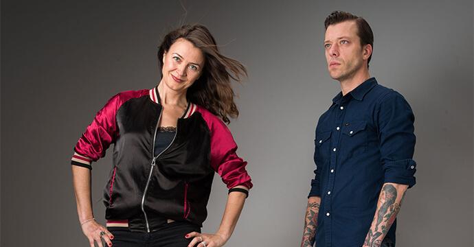 Katja Brunkhorst von Bright Idea mit ihrem Mann