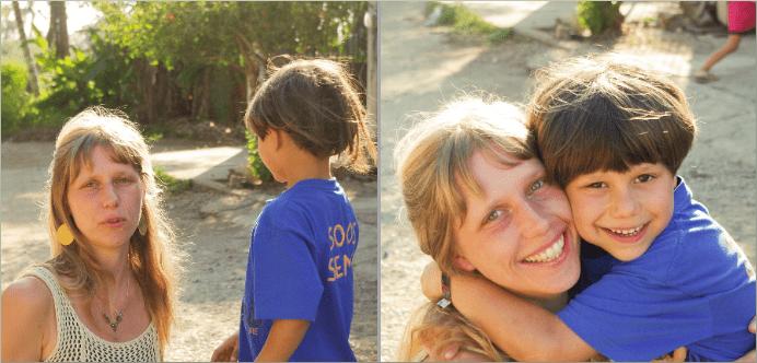 Anna Suno und ihr Sohn