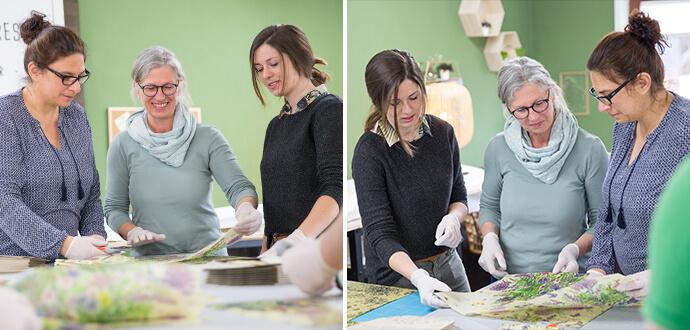 Rosemarie Juergens Little Bee Fresh Team bei der Arbeit