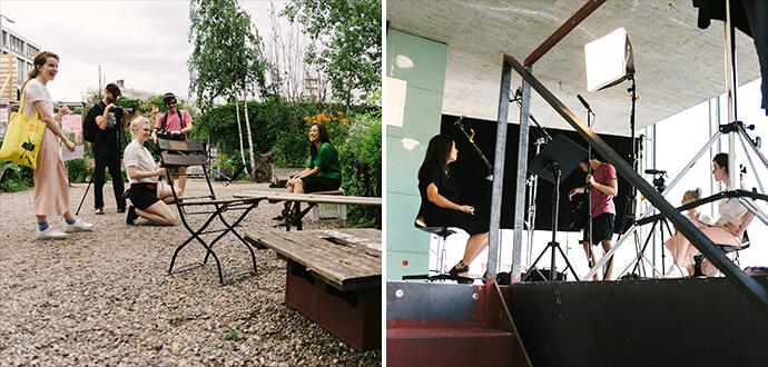 Magdalena Balkoswki Pearls & Beans Dreharbeiten - Bilder vom Set