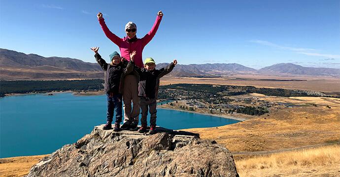 MomPreneurs Claire Oberwinter mit ihren Kindern im Urlaub