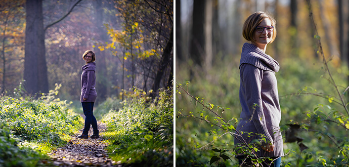 MomPreneurs Claire Oberwinter geht neue Wege im Wald