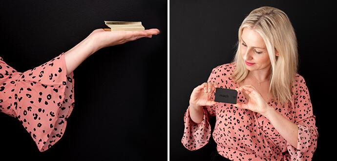 MomPreneur Mareen Eichinger zeigt ihre Visitenkarten