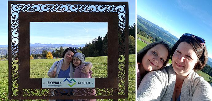 MomPreneurs Andrea Bergbaum im Urlaub mit ihrer Tochter