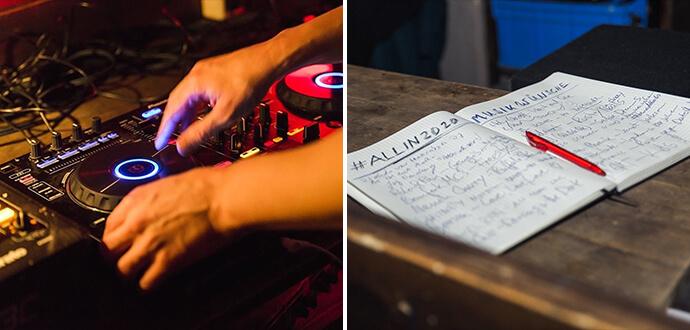 Linda Broschkowski DJ-Pult und Setlist