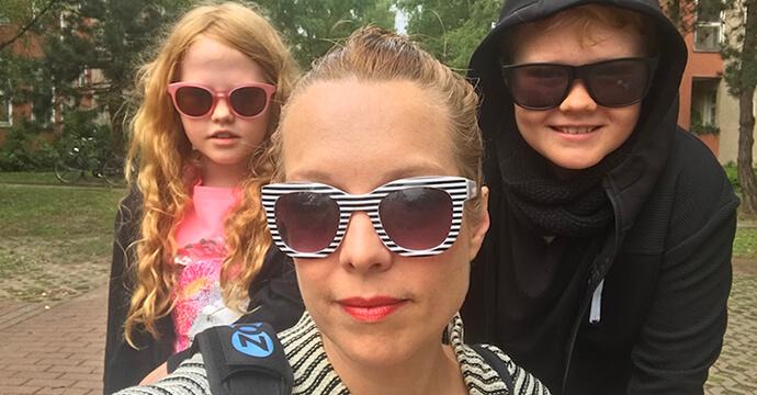 Linda Broschkowski und ihre Kinder