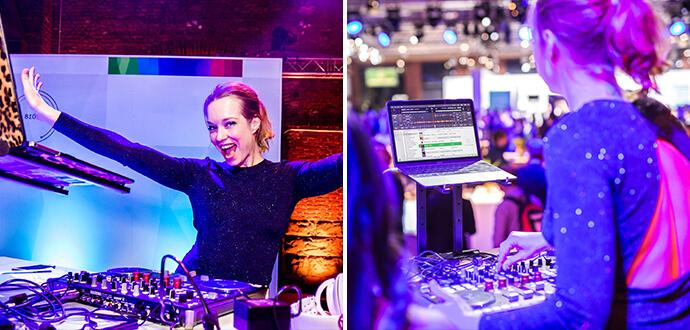 Linda Broschkowski Female Music Force am DJ-Pult