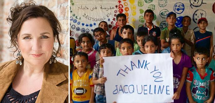 MomPreneurs Jacqueline Flory Zeltschule Kinder sagen Danke